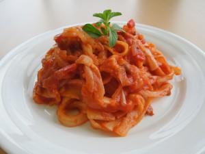 ソイソーストマト風味パスタ